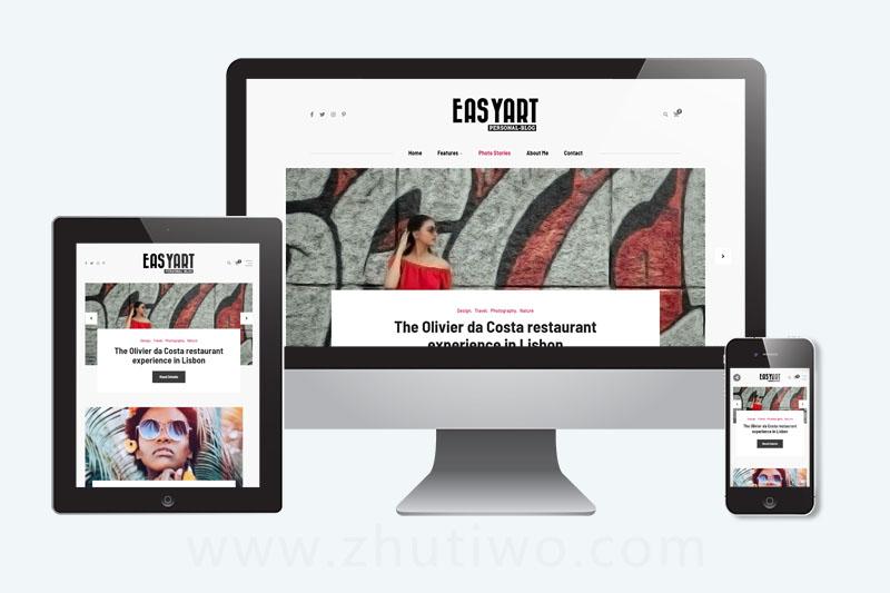博客Blog网站响应式模板 html个人网站