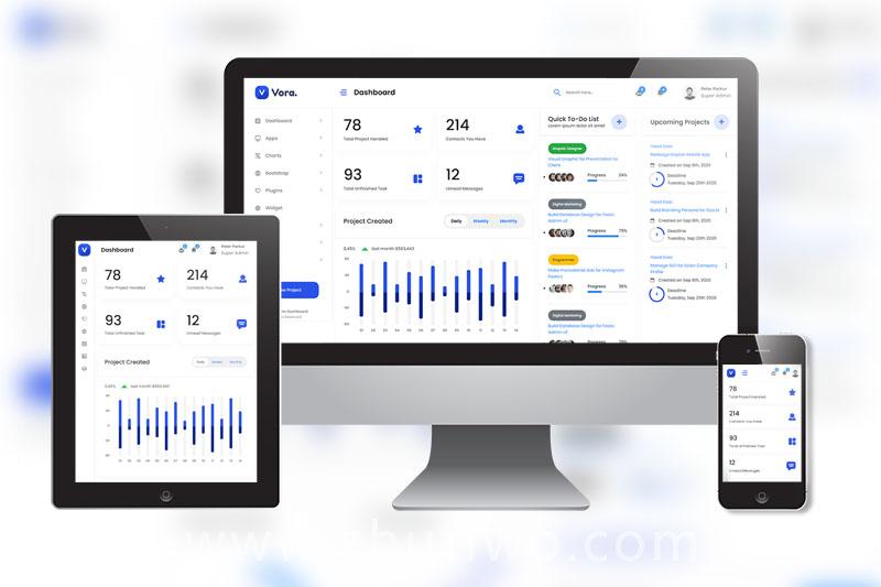 多用途项目ui模板 网站后台管理系统模版
