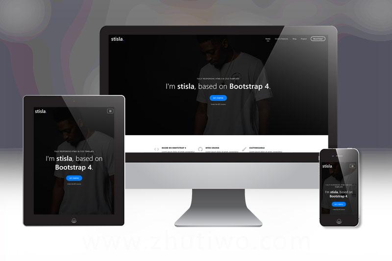 非常有个性的工作室网站模版 单页响应式网站模板