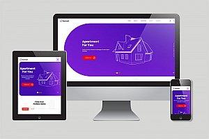 房产网站H5网站模版 房地产响应式模版下载