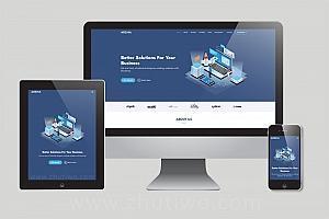 网站建设公司响应式html模版下载 网络公司H5模版