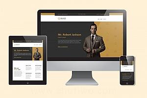 稳重大气的律师事务所网站模板 响应式html律师网站模版