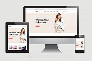 服装商城网站模版下载 响应式html服饰网站模版
