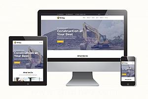 建筑工程网站模板 大气响应式H5工程建筑项目网站模版
