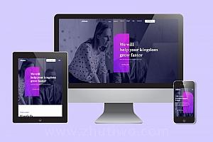 超赞适合各类企业的网站风格模板 响应式H5网站模版
