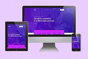 通用大气企业网站模板 蓝色html响应式企业网站模板