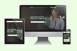 绿色大气人才招聘网站模板 响应式结构布局SEO友好