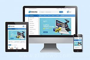 大型购物商城网站模板 电子商务响应式在线商店模版