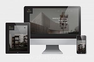 室内建筑设计网站模板 工程装修设计院网站模版
