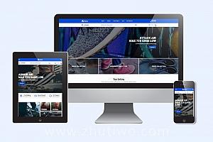 时尚运动鞋商城网页模板 响应式在线商店模版