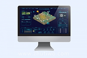 智能AI农业大数据监测指挥中心模板