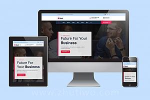 深蓝色通用型企业公司网站模板 响应式html模版(SEO友好)