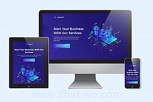 简单单页网站模板下载 科技企业响应式网站模版
