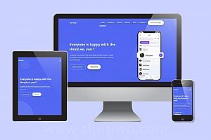 app运营商网站模版,app下载页模版