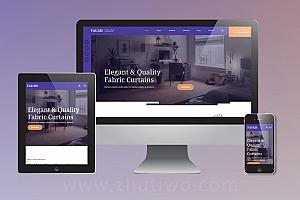 非常有特色的家装窗帘网站模板 响应式html5家装企业网站模版