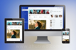 交友网站html5整套模板下载 响应式社交网站模板