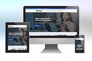 Novaly通用企业网站模版 蓝色系公司网站模版