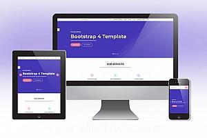 网络服务类通用网站模版 单页响应式html模版