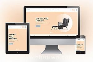 家具家私在线销售网站模板 家装商城网站模板