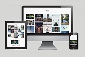 图片博客WordPress主题 很适合做相册的模版