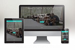 非常大气有设计感的教育培训机构网站模板 响应式培训机构模版下载