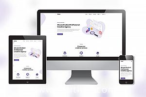创意公司极简网页模板下载 点子公司网站模板