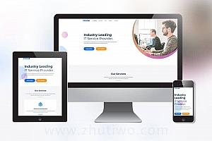 清爽互联网设计公司网站模板 IT网络公司网站模板