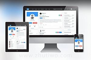招聘平台网站模板 社交交友平台网站模板