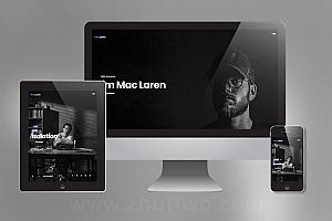 摄影师网站模板 摄影相册网站模板