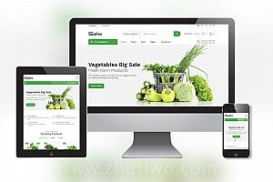 蔬菜电商网站模板 界面清新可餐的果蔬商城网站模板