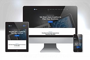 通用商务网站模板 大气网站模板下载