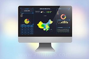 智慧社区人员统计数据大屏模板 智慧大屏模版
