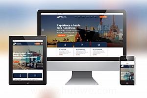物流货运公司网站模板 响应式物流公司网站模板