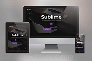 黑色视差效果网站模板 设计类视差网站模板