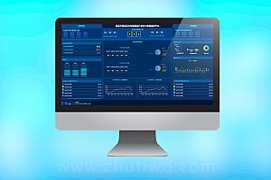 办税渠道运行状态大数据监控平台模板 政务数据大屏模板