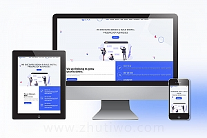 科技公司网站模板 互联网企业网站模板