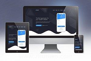 APP运营商网站模板 APP在线介绍及下载页模板