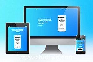 响应式单页APP落地页模板 APP运营公司下载页模板