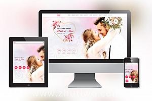 婚纱摄影网站模版 婚庆公司网站模版