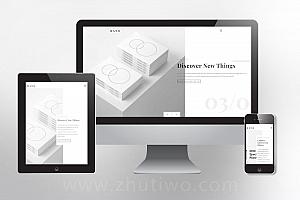 干净洁白的设计公司网站模版 响应式排版佳