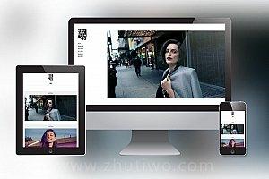 响应式炫酷摄影相册DedeCMS整站模板 图集画册类网站模板下载