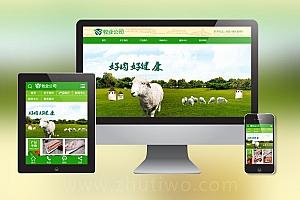 绿色畜牧业肉类食品行业织梦dedecms模板