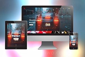 响应式炫酷汽车配件类网站织梦模板 html5高端大气汽车网站模板下载